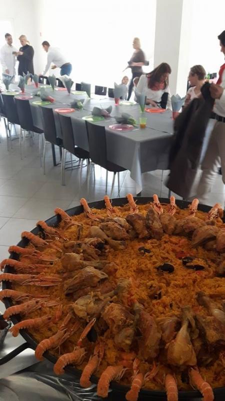 Paella faite sur place